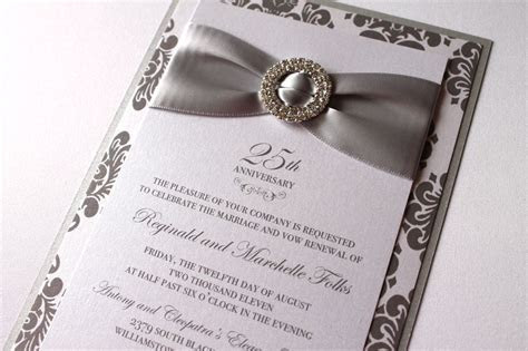 25th silver wedding anniversary invitations : 25th wedding
