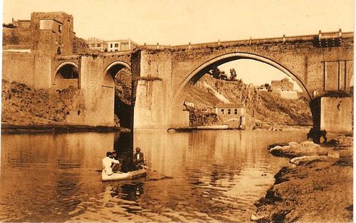 Puente de San Martín a principios del siglo XX