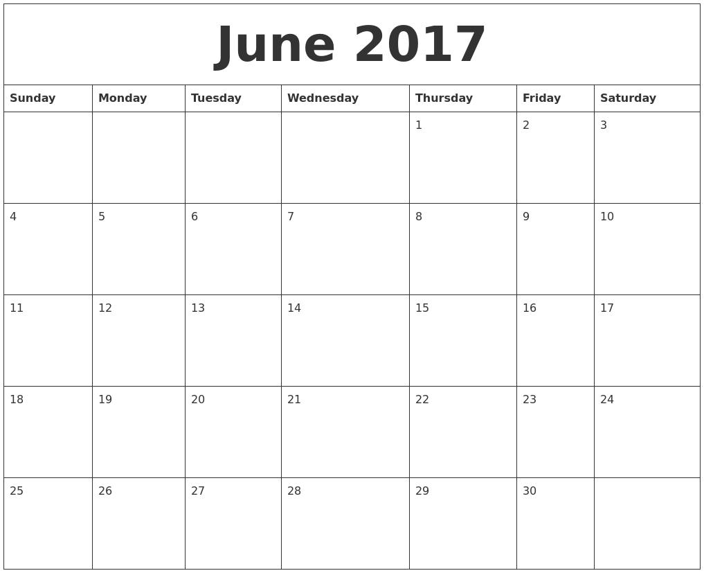2017 Editable Calendar Template