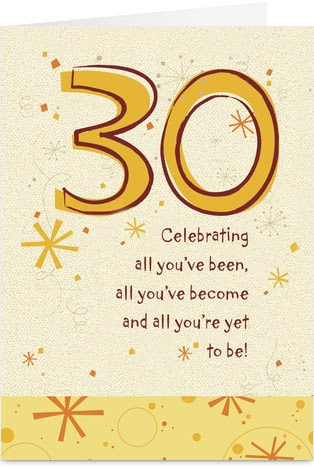 AMSBE - 30 Birthday Cards, 30th Birthday Card Ideas