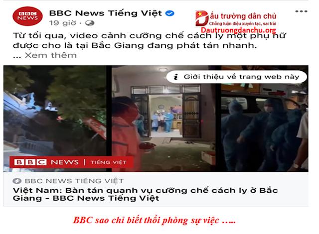 BBC sao chỉ biết thổi phồng sự việc