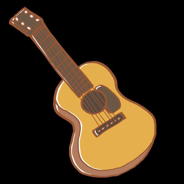 アコースティックギターのイラスト かわいいフリー素材が無料の