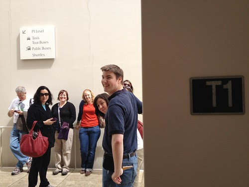 How did the Getty Museum know to mark this hallway just for us?