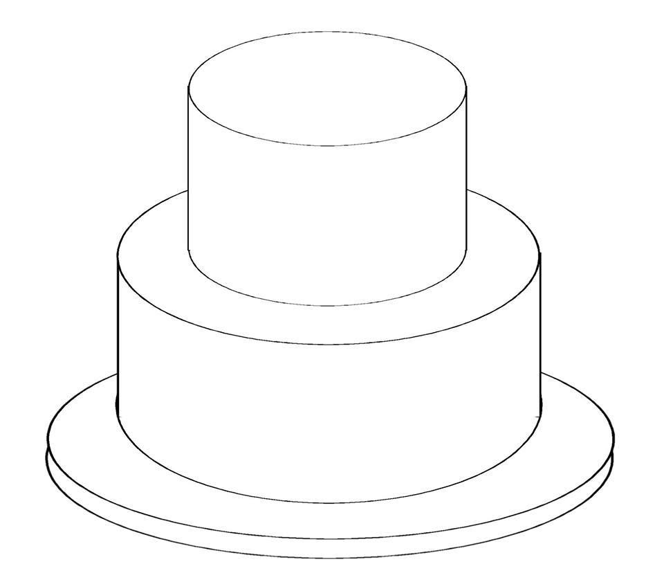 Free Birthday Cake Outline Download Free Clip Art Free Clip
