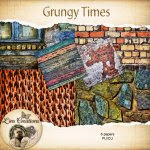 Grungy Time papers (CU) by Lins Creations