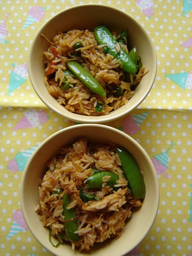 Bowls of Chicken Fried Rice