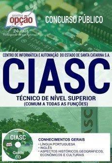Apostila Concurso CIASC 2017 | TÉCNICO DE NÍVEL SUPERIOR (COMUM A TODAS AS FUNÇÕES)
