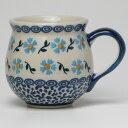 ポーランド かわいい食器 ポーリッシュポタリー<br />【ポーランド陶器・食器】マグカップ 0.2L<br />マニュファクトゥラ社 K67-GK2