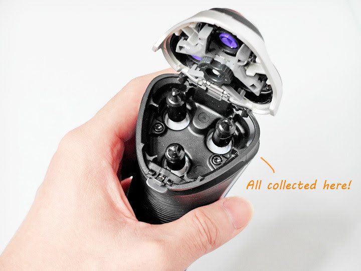 philips aquatouch electric shaver hair & dead skin collection port
