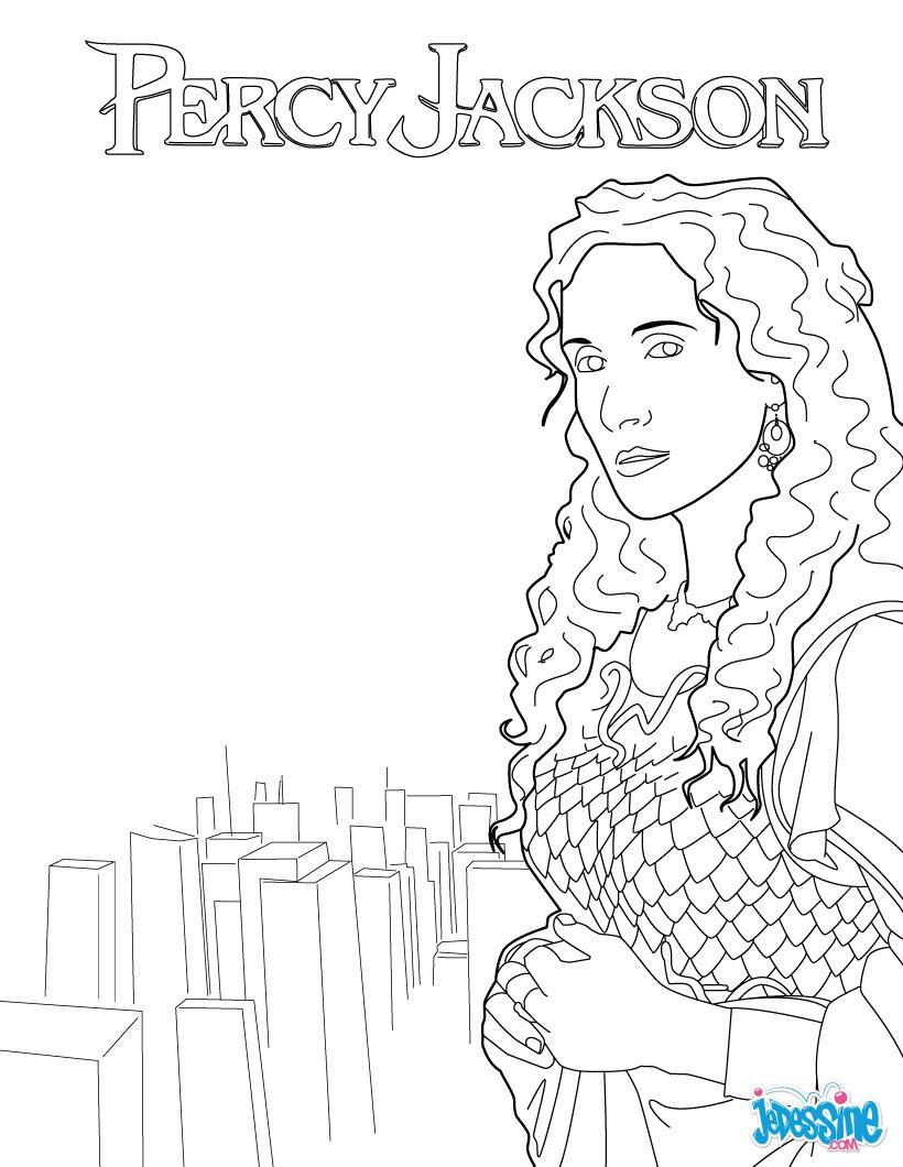 Coloriage PERCY JACKSON Athena