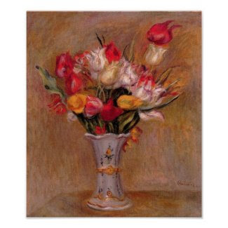 Renoir Red Tulips Fine Art Print