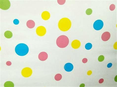 jual walpaper dinding polkadot warna warni   cm
