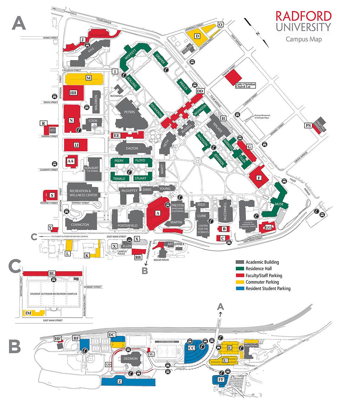 Radford High School Campus Map