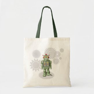 Mechanical Toy Robot Totebag