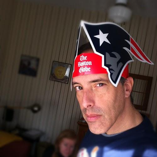 Go Pats! #brandbowl cc @bostonglobe #gronking #patriots by stevegarfield