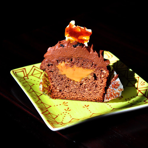 Chocolate Dulce Cupcake Cut