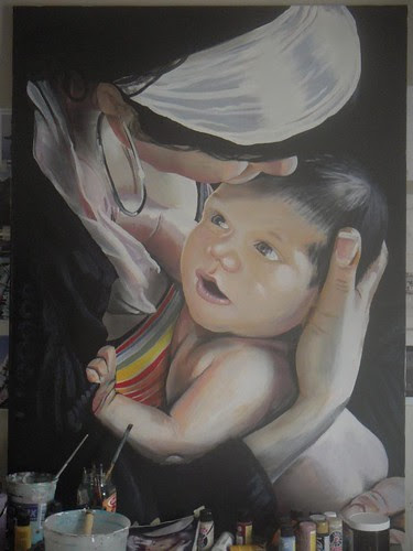 """Che"" acrylic and aerolsol by Muy Rico"