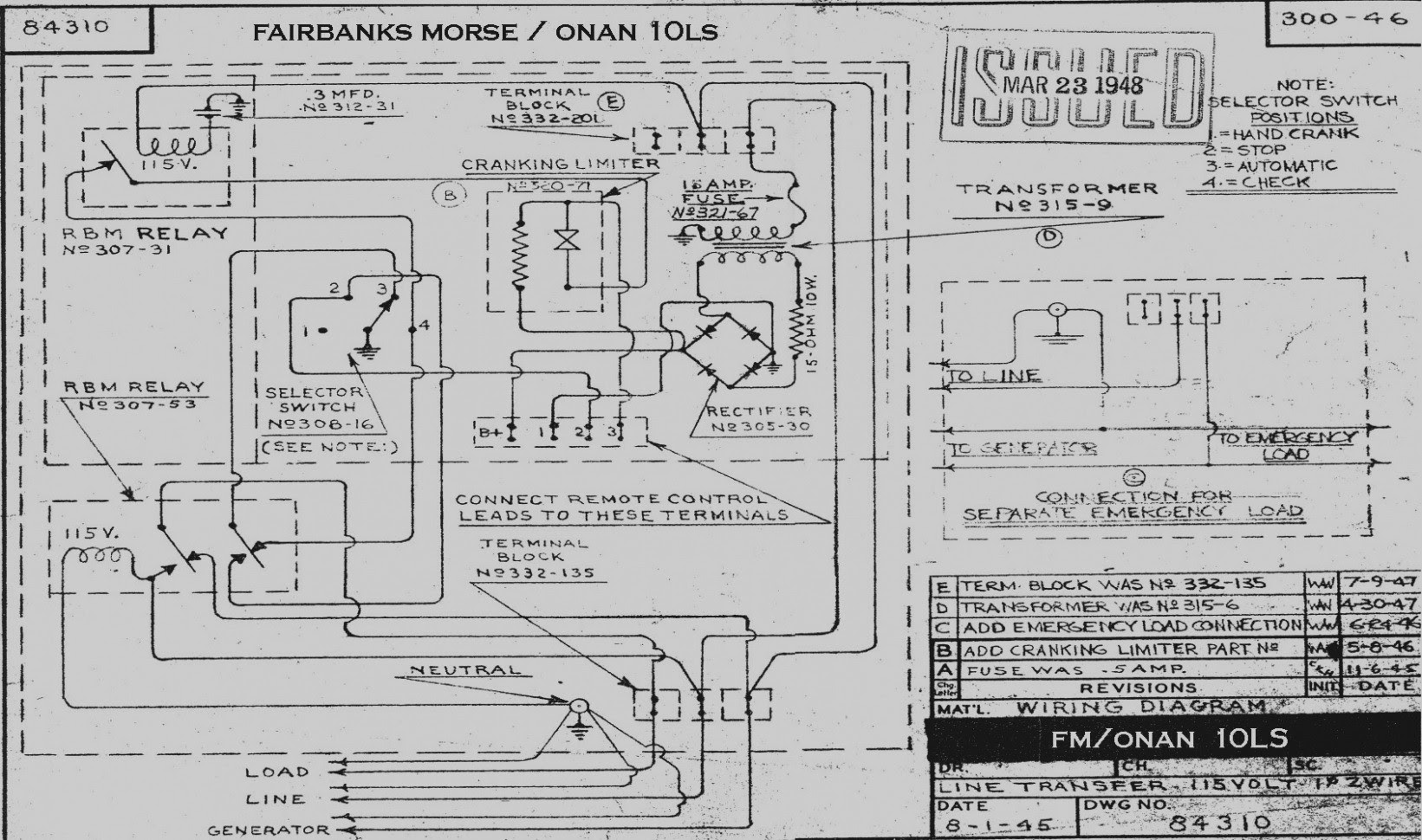 onan 65 marine generator wiring diagram