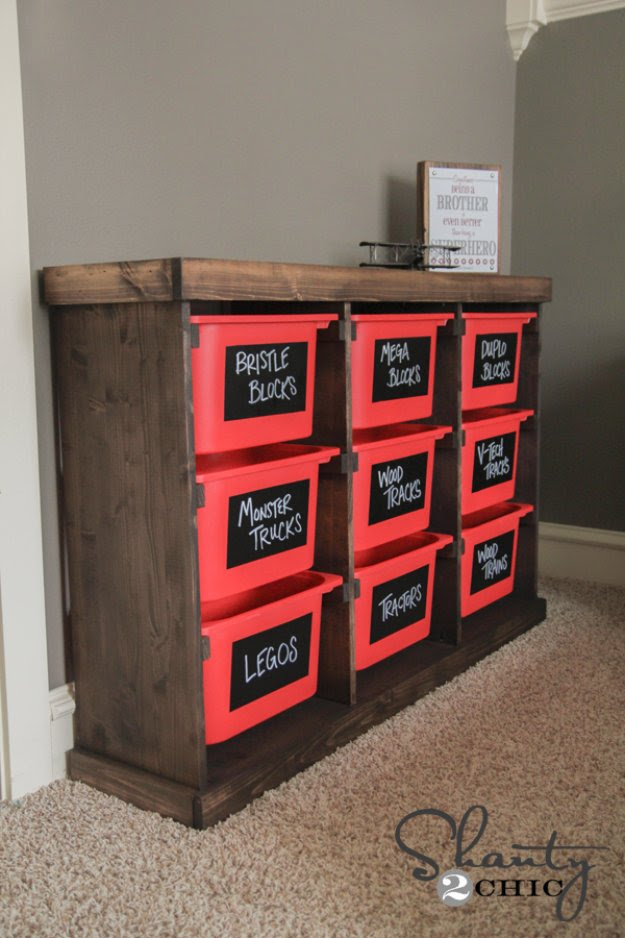 DIY Storage Ideas - DIY Storage Idea From Ikea's Trofast Baskets - Home Decor and Organizing Projects for The Bedroom, Bathroom, Living Room, Panty and Storage Projects - Tutorials and Step by Step Instructions  for Do It Yourself Organization http://diyjoy.com/diy-storage-ideas-organization