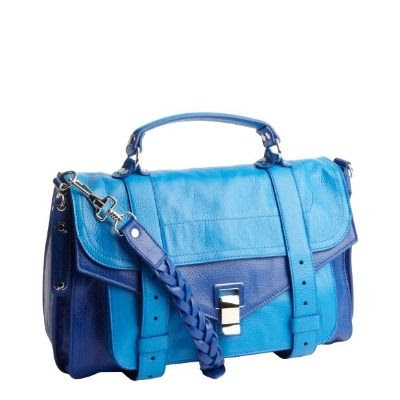 Proenza Schouler Royal And Ocean Blue PS 1 Convertible Shoulder Bag