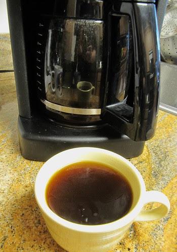 Mmmm...fresh roasted (at home) coffee!