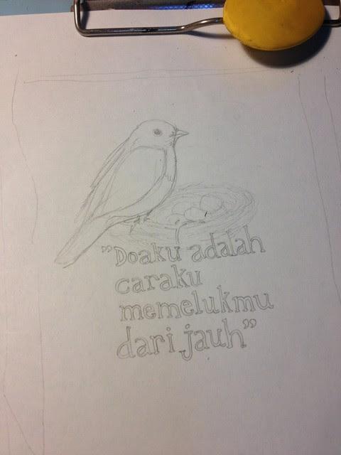Bookplate sketch
