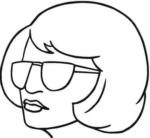 Disegno Di Bionda Con Occhiali Da Sole Da Colorare Disegni Da