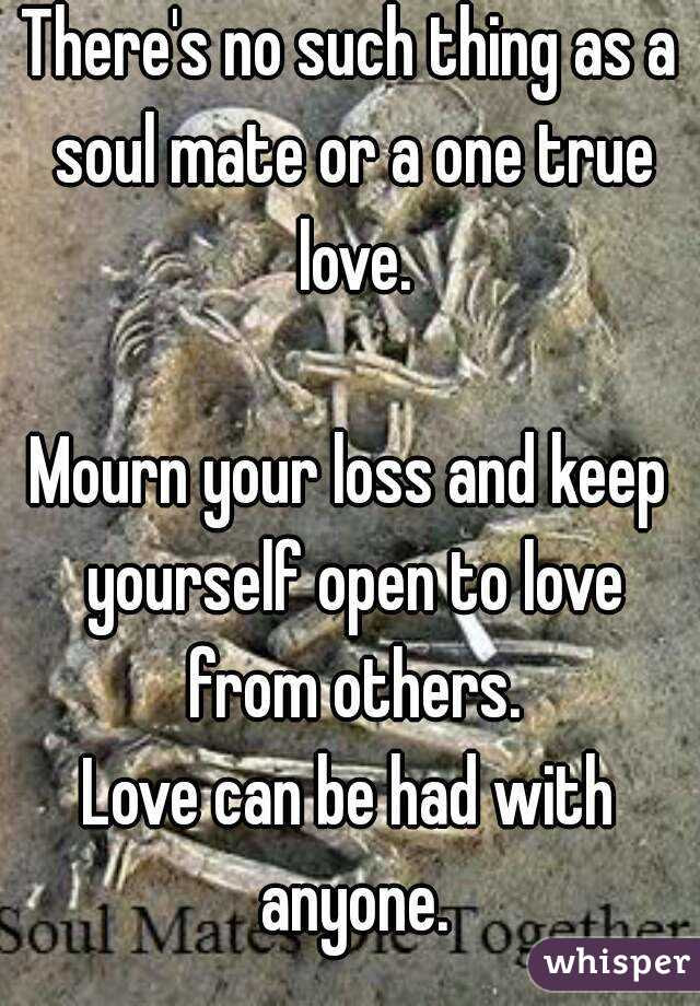 Theres No Such Thing As A Soul Mate Or A One True Love Mourn Your Loss