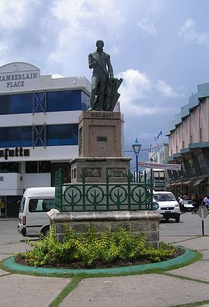 Nelson statue on Trafalgar Square in Bridgetow...