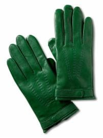 Women: Leather driving gloves - Irish green