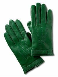 Women: Leather driving gloves - Irish green