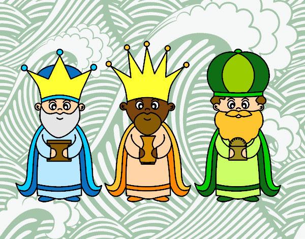 Dibujo De Los 3 Reyes Magos Pintado Por Sarita22 En Dibujos Net El