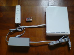 Box B - console, Wii remote, power adapter
