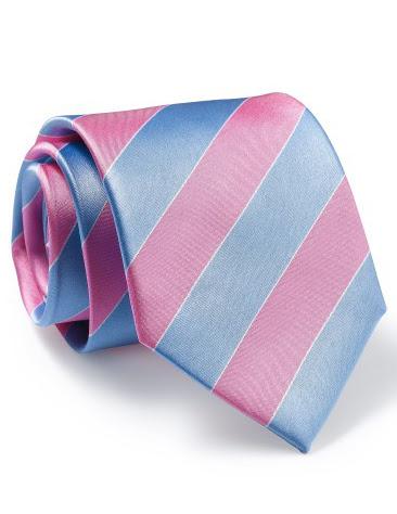 Mẫu Cravat Đẹp 25 - Đồng Phục Màu Sọc Hồng Xanh