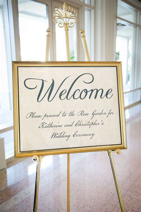 1776 Presidential Themed Wedding Design   Welcome Signage