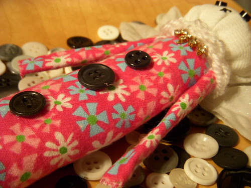 A Spring Night Art Doll on Buttons