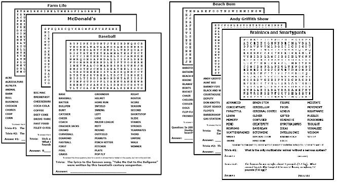 Word Search Puzzles - Printable Word Searches