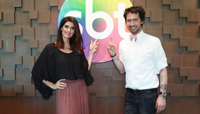 Arlindo e Isabella renovam com o SBT (Foto: Leonardo Nones/SBT)