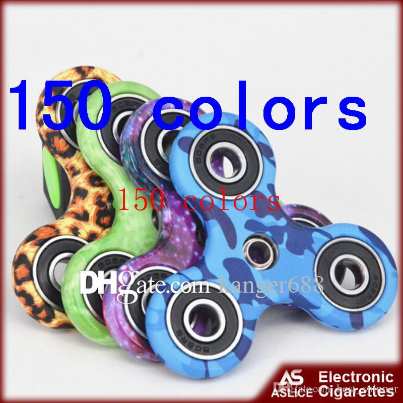 Camouflage Tri Fid Spinner EDC Finger Toys Adults Stress Relief