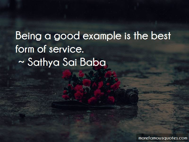 Quotes About Being A Good Example Top 37 Being A Good Example