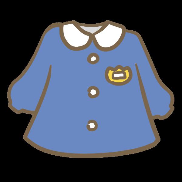 園服紺色のイラスト かわいいフリー素材が無料のイラストレイン