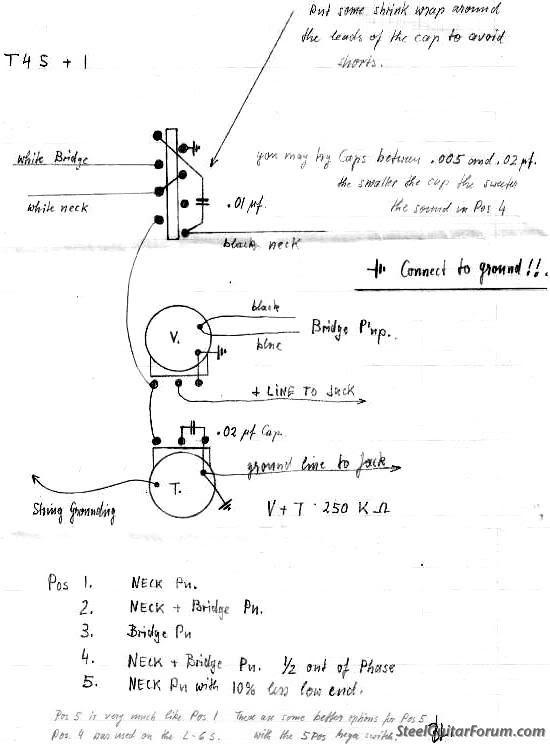 Tele 4 Way Switch Wiring Info Needed Please The Steel Guitar Forum