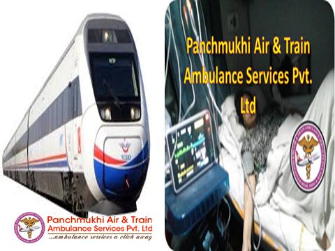 Panchmukhi Train Ambulance Service From Patna To Delhi At