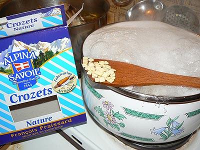 pâtes crozets