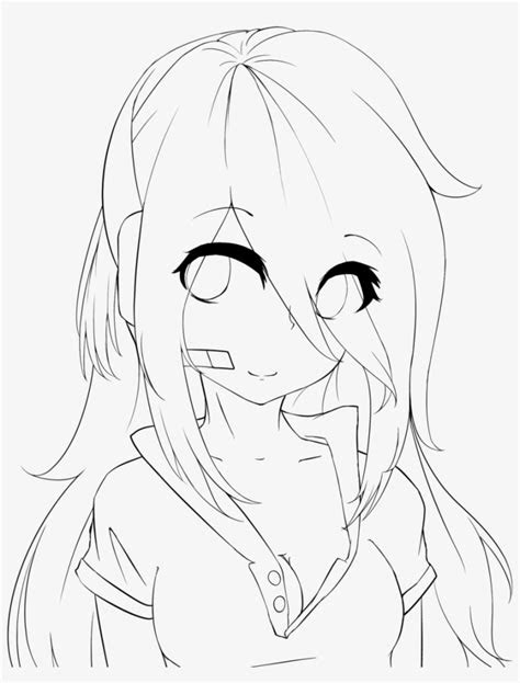 lineart practice girl deadlox  holdspaceshift anime girl