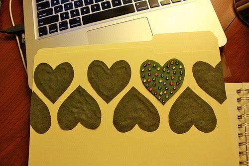 carpeta corazones