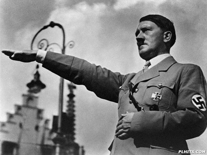 Adolf Hitler Saluting, 1934
