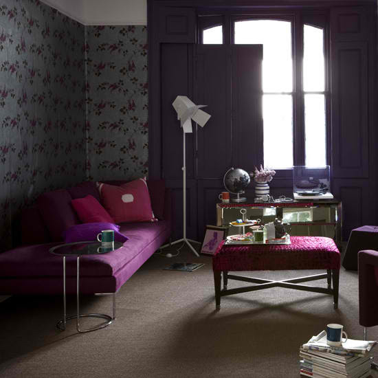 20 Purple Living Rooms - Decoholic
