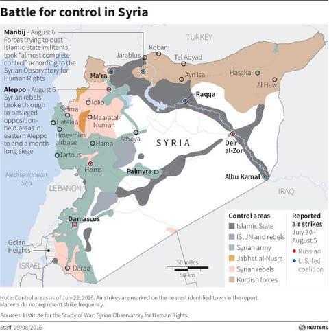 syria map