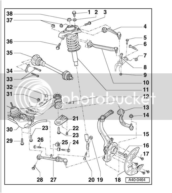 Audi A4 B6 Front Suspension Diagram